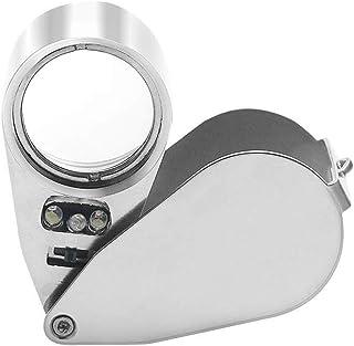 Sylvialuca 30X 60X LED Mini Tasca dIngrandimento Lupa Lente dIngrandimento Portatile Gioielliere Microscopio Valuta Rivelatore UV Len
