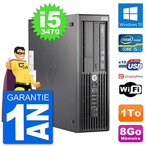 HP PC Workstation Z220 SFF Core i5-3470 RAM 8 GB Festplatte 1 TB Windows 10 WiFi (überholt)