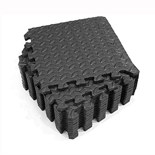 Tapis de Fitness,Tapis de protection du sol Tapis de protection Set Underlay Mat for Fitness Equipment,Lacrymaux Durable Résistant Tapis en Mousse EVA Mat ( Color : Black , Size : 12PS-30*30*1.2cm )