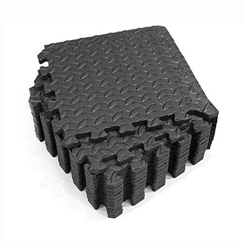 Tapis de Fitness,Tapis de protection du sol Tapis de protection Set Underlay Mat for Fitness Equipment,Lacrymaux Durable Résistant Tapis en Mousse EVA Mat ( Color : Black , Size : 12PS-30*30*1.2cm )