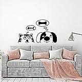 Calcomanías de pared de animales divertidos dibujos animados...