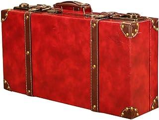 S2F5 Suitcase Box Travel Suitcase Vintage Large Travel Suitcase Leather Home Decor Parties Wedding Decoration Decorative Boxes S2F5 (Color : E, Size : 44X11.5+48X15+54X18.5CM)