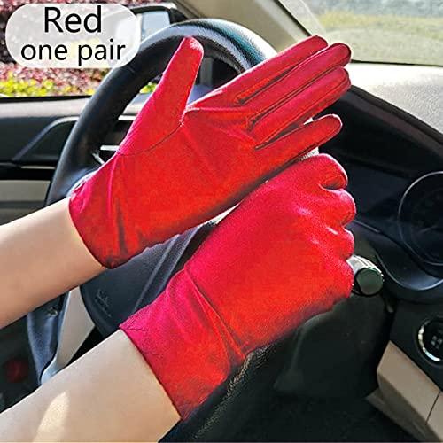 Mode Sommer Spandex Handschuhe Frauen Männer Sexy Fäustlinge Sonnenschutz Weiß Schwarz Etikette Dünn Short Stretch Dressy Tanzhandschuhe-a1-One Size