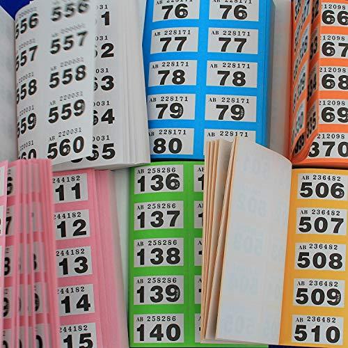 Doppelnummern, Lose, Gewinnlose Garderobenmarken für Tombola Garderoben und Veranstaltungen im Block nicht Röllchenlose, Stück Office Amazon:6 Stück (1x6 Farben)