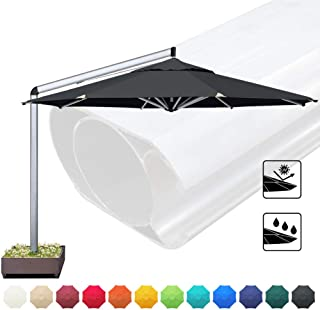 EliteShade Sunbrella 11 Feet Patio Umbrella Outdoor Umbrella Cantilever Umbrella Offset Hanging Umbrella with Umbrella Base for Garden, Deck, Backyard, Pool, Bonus Umbrella Cover,Black