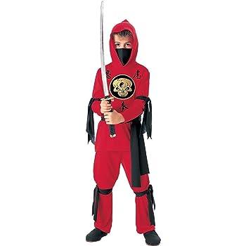 Tante Tina - Disfraz de Ninja para Niños en Rojo / Negro- 3-5 años ...