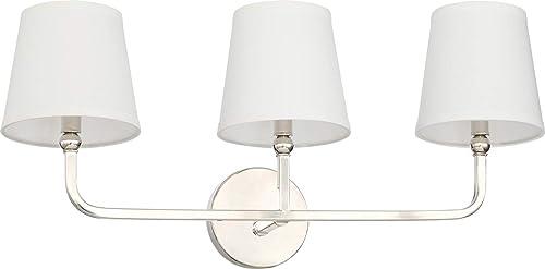 popular Capital 2021 119331PN-674 Dawson outlet sale Vanity, 3-Light 180 Total Watts, Polished Nickel outlet online sale
