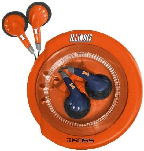 Koss Sportbuds Stereo Earphones 2 Pack with Wind Up Storage Case University of Illinois Logo product image