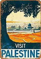 なまけ者雑貨屋 Visit Palestine メタルプレート レトロ アメリカン ブリキ 看板 バー ビール おしゃれ インテリア