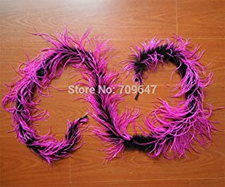 Maslin New ! 1pc/lot Luxury Black & Rose Ostrich BOA Marabou Feather BOA - Dance, Costume, Burlesque