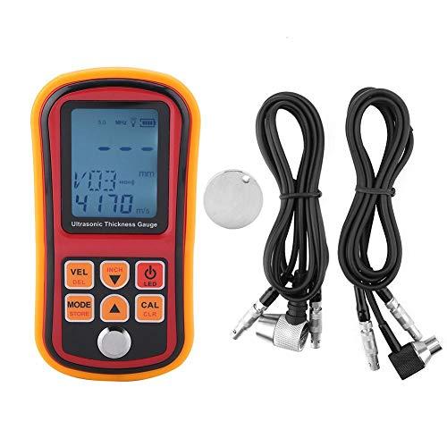 Akozon GM130 Digitales Ultraschall-Dickenmessgerät Bereich 1-300mm Stahlbreite Prüfmonitor Automatische Kalibrierung Dickenmessgerät 12 Arten Dickenmessdaten speichern und abrufen