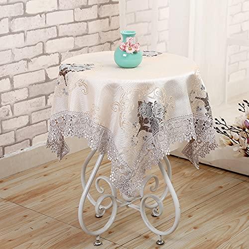 sans_marque Mantel de mesa, funda de mesa, adecuado para mesa de buffet, fiesta, cena de vacaciones, mesa de celebración de boda, 80 cm