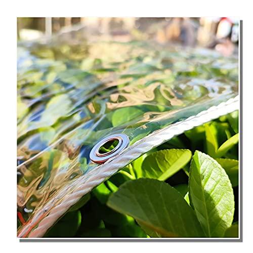 XKUN Lona impermeable, lona transparente del PVC de 0.3m m, resistente al desgarro Anti-envejecimiento material durable toldos, lona para la terraza, pabellón, patios, área al aire libre