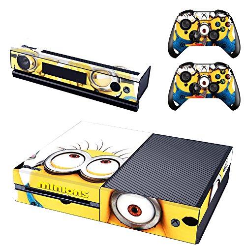 REYTID Piel de Consola Pegatina + 2 x calcomanías del Controlador & kinect Wrap Compatible con Microsoft Xbox One...