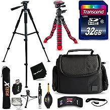 32GB Accessories Kit for Nikon Coolpix B700, B500, A900, L840 L830, L820, L620, L610, P900, P610, P600, Kit Includes: 32GB Memory Card + Padded Case + 60' inch Tripod + 12' Flexible Tripod + More