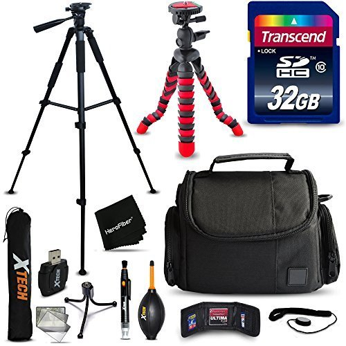 "Accessories Kit for Nikon Coolpix B600, B700, B500, P950, A900, L840 L830, L820, L620 L610 P900 P610 P600 Camera Includes: 32GB SD Memory Card, Case, 60"" Tripod, 12"