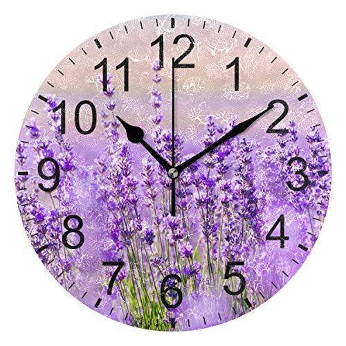 Sennsee Wanduhr, Lavendel, Blume, Violett, Mauve