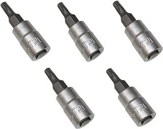 AERZETIX: Juego de 5 llaves de vaso con puntas para tornillos Torx T20 1/4
