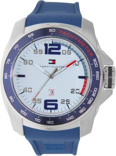 Tommy Hilfiger 1790855 - Reloj analógico de Cuarzo para Hombre con Correa de Silicona, Color Azul