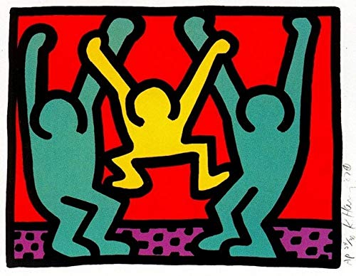Flduod Keith Haring Pop Art Montreux Klassieke Canvas Schilderijen Vintage Muurposters Stickers Home Decor Gift60x80cm