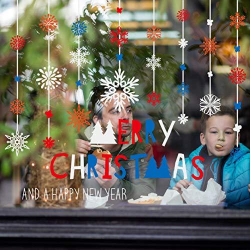 YCEOT sneeuwvlok kroonluchter muursticker kerstdecoratie winkelen venster glazen deur en raamdecoratie
