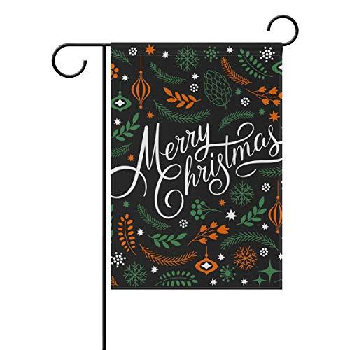 SENNSEE Merry Christmas Tree Bell Maison Jardin Drapeau 30,5 x 45,7 cm Double Face Drapeau de la Cour pour décoration de fête Intérieur Extérieur, Polyester, Multicolore, 12x18(in)
