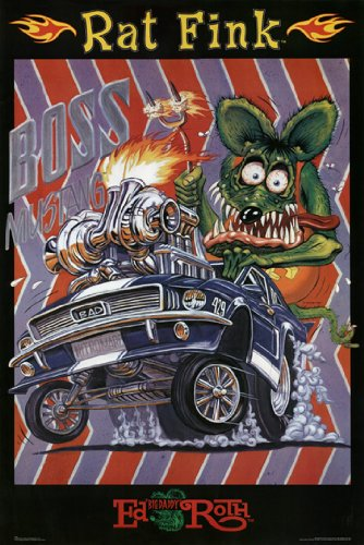 Price comparison product image RAT FINK POSTER Boss Mustang RARE HOT NEW 24X36