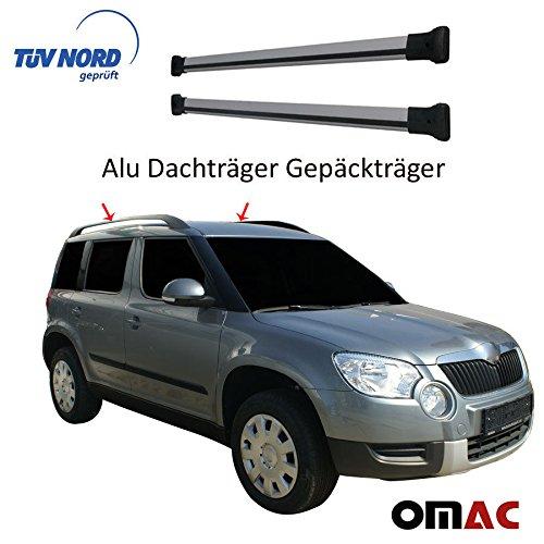Alu Dachträger Gepäckträger GRAU Škoda Yeti mit TÜV / ABE