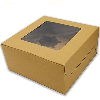 20pcs Cajas Para Cupcake ,WENTS Caja de Pastel Elegante y Portátil Caja para Cupcakes con Ventana Transparente para Adecuado para Bodas, Fiestas, Ceremonias, Cumpleaños: Amazon.es: Hogar