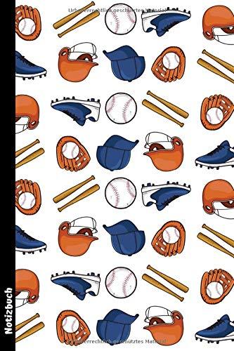 Baseball: Notizbuch/Tagebuch/Notizheft ca A5 liniert mit 100 Seiten zum Eintragen und Ausfüllen der Notizen, Zeichnungen, Ideen oder Erinnerungen | ... Baseballspieler ,Trainer und Baseball-Fans