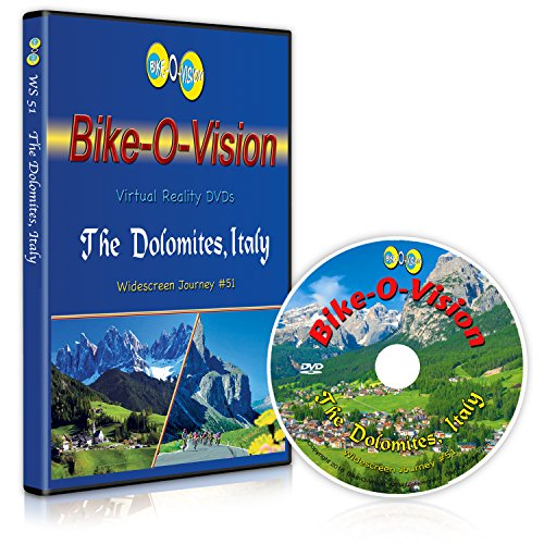 Bike-O-Vision - The Dolomites, Italy - Virtual Cycling Adventure - Perfect for Indoor Cycling and Treadmill Workouts - Cardio Fitness Scenery Video [Blu-ray]