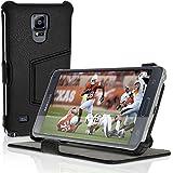 iGadgitz U3200–Imprimé pour Samsung Galaxy Note 4SM-N910, en Cuir avec Support et Protecteur d'écran–Noir