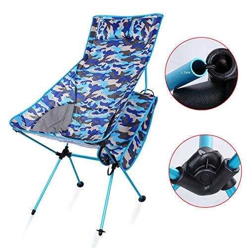 YXYLD Camping Stuhl, Aluminiumlegierung Camouflage Klappstuhl Outdoor Strandkorb Mit Kissen Und RüCkenlehne Stuhl FüR Mountain Camping Freizeit
