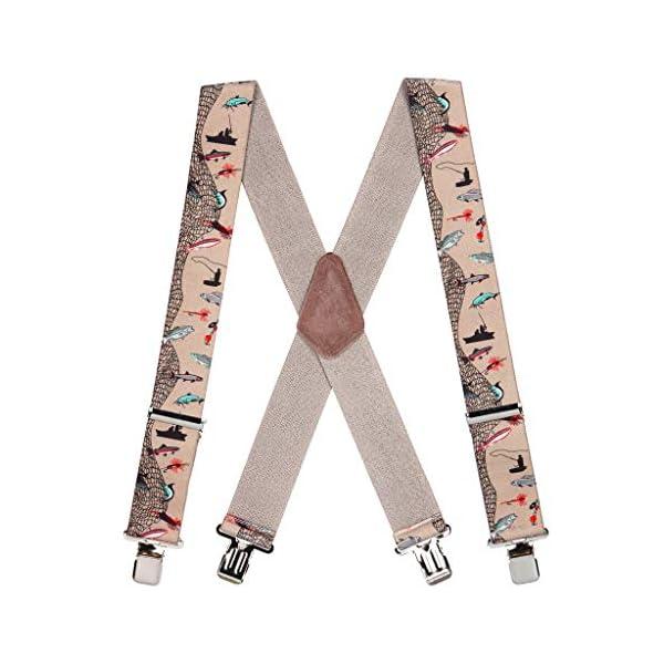 SuspenderStore Men's Fisherman Suspenders 2 Inch Wide – Construction Clip