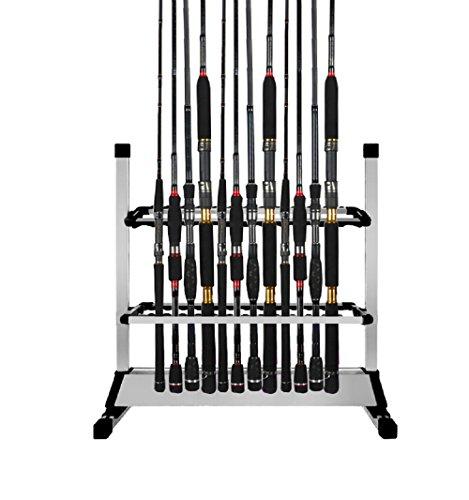 BigTron portacanne da pesca, capacità 24 pezzi, compatibile con tutti i tipi di canna, in lega di alluminio