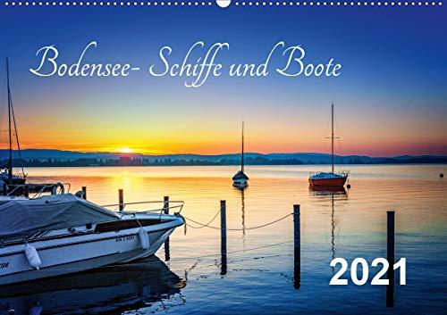 Bodensee-Schiffe und Boote (Wandkalender 2021 DIN A2 quer)