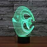 Lámpara de ilusión 3D Luz de noche Led Coral Acuario óptico para decoración de guardería Dormitorio 7 colores que cambian juguetes y regalos para niños