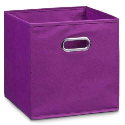 Zeller 14115 - Caja de almacenaje de tela, plegable, 32 x 32 x 32 cm, color morado