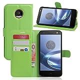 Oujiet-eu CN Funda para Motorola Moto Z Play Funda Flip Cuero de la PU+ Cover Case de Silicona Protección Fija 5