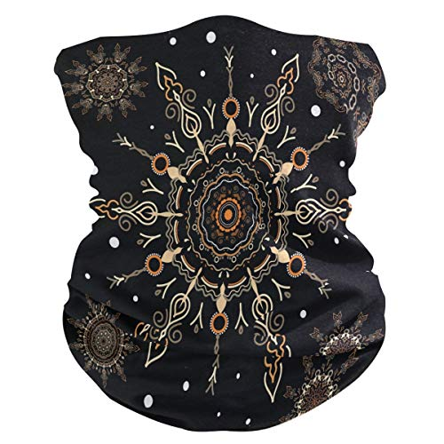 XIXIKO Tribal Floral Mandala Bandana Mascarilla Protección Polvos UV Multifuncional Cuello Polaina Snood Bufanda para Mujeres Hombres Al Aire Libre Deportes Senderismo