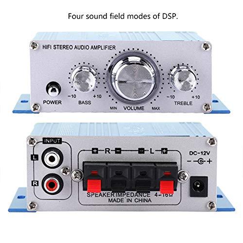 FOLOSAFENAR Reproductor de música, Amplificador automático Profesional de Coche de Gran Potencia para CD de música para DVD MP3(Blue)