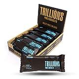 TRILLIONS | Barritas de proteinas con harina de grillo sabor Arándanos | 100% Ingredientes naturales | Sin azucar añadida y sostenibles | 15 x 45gr - Barritas energeticas