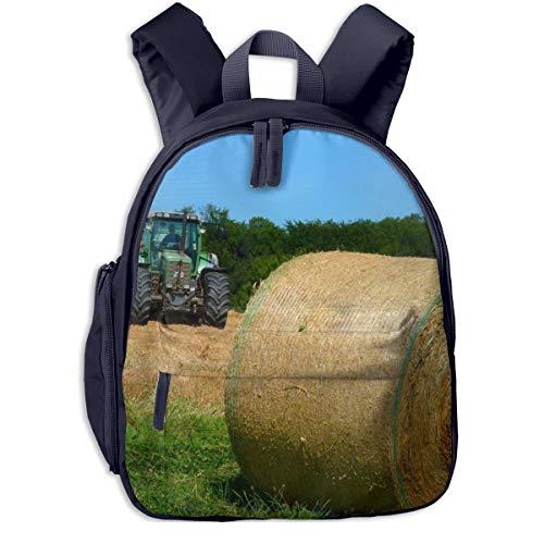 Kinderrucksack Kleinkind Jungen Mädchen Kindergartentasche Gras Heu Traktor Farm Backpack Schultasche Rucksack