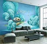 Blovsmile Papel de pared para niños personalizado hermoso paisaje de árbol Decoración de casa papeles pintados de fondo para pared 3D Mural A-400X280cm(WxH)