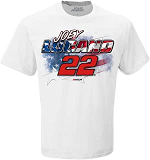 Checkered Flag Joey Logano 2019 Patriotic Red, White and Blue #22 NASCAR T-Shirt