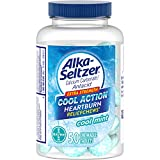 Alka-Seltzer Cool Action Extra Strength Heartburn Relief Chews, Cool Mint, 50 Chewable Tablets (Pack of 2)