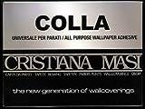 colla parato - cristiana masi - 200 gr per parati i tnt vinilici e carta c.a.a 4/7 rotoli