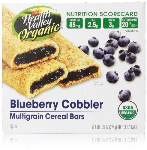 Health Valley, Cobbler Cereal Bars, Blueberry, 7.9 oz