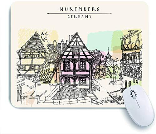 Marutuki Gaming Mouse Pad Rutschfeste Gummibasis,Nürnberg Deutschland Europa,für Computer Laptop Office Desk,240 x 200mm