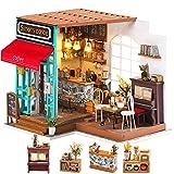 Rolife DIY Dollhouse Miniature Kit,House Kit with Dollhouse Furniture,Wooden Dollhouse Miniature Kits,Birthday/Christmas/Valentine's Day Gift for Handicraft Lovers,Women and Girls(Simon's Coffee)